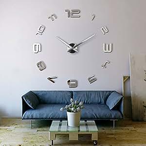 Xxl3d Grande Horloge Murale Xxl 130cm Miroir Geante