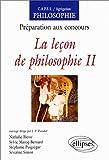 La leçon de philosophie, Tome 2 - Préparation aux concours