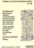 Cahiers du Cercle Nicolas Andry, N° 10 :