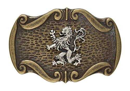 Trachten Gürtel-Schnalle Landes-Wappen Gürtelschließe Wechsel-Schliesse Geburtstag-Geschenk Accessoire 8,5 x 5,7 cm 40 ()