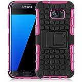 Coque Galaxy S7 Edge Coque incassable   JammyLizard   [ ALLIGATOR ] Coque rigide back cover incassable anti choc coque pour Samsung Galaxy S7 Edge, rose fuchsia