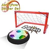 PUZ Toy Geschenke für 4-7 Jahre Jungen Hover Fußball Tor Set Luft Fussball Kinder Geschenke für 3-5 Jährige Jungen Spiele für Draußen Innen