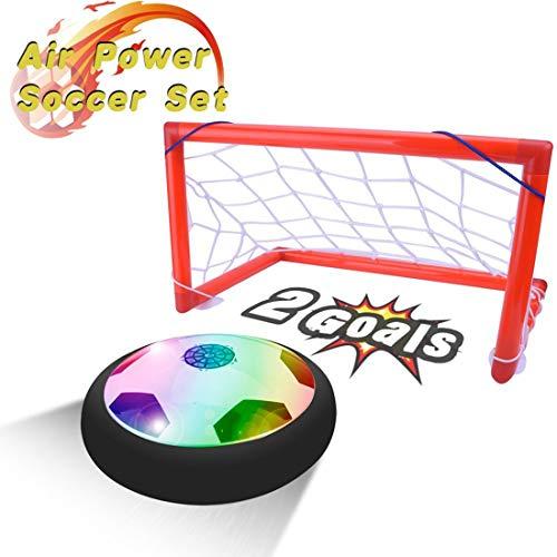 PUZ Toy Regalos para Niños de 4-7 Años Hover Ball Portería Set Juegos al Aire Libre Juguetes de Interior Regalos para Niños 3-5 Años