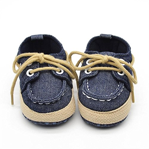 Culater® Scarpe bambino infante della ragazza del ragazzo morbida Sole Sneaker bambino (12, Blu scuro)
