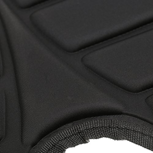 Komfort Rückenlehne Rückenpolste Sitzstütze für Kajak Kanu Fischerboot Schwarz mit Tasche + Sitzkissen -