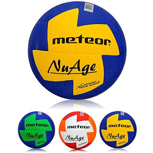 meteor® Nuage Handball Kinder Jugend Damen ideal auf die Kinderhände abgestimmt idealer Handbälle für Ausbildung weicher handballen mit griffiger Oberfläche (Damen #2 (54-56 cm), Blau/Gelb)