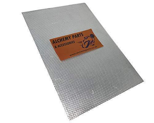 Alchemy Parts Hitzeschild Blatt 100cm X 33cm Selbstklebend Auspuff & Motor Aluminium Reflektierend für Motorrad Verkleidung Auto