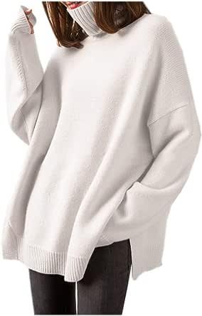 Maglione di Cachemire da Donna - Maglione di Cachemire di Alta Moda con Collo Alto