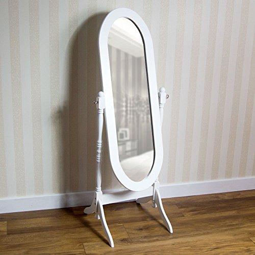 Nishano Standspiegel Weiß, Schwenkbar von Vida Designs