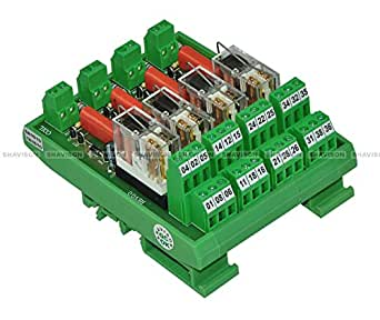 Shavison Relay Module AS433-230VAC-S-OE, 2C/O, 4 Channel, 230VAC Coil, OEN Relay, Socket Mounted Relay, Isolated Coils, Contact Rating : 28VDC/230VAC, 5A