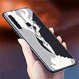 RUIWEI Caja del teléfono for Samsung Galaxy S10,P-33 Sailor Moon Anime Cubierta Posterior de Vidrio Templado, Caucho de Silicona Suave