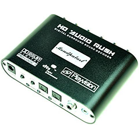 Mondpalast ® Decodificador de Sonido Digital Dolby DTS AC3 Optico a 5.1 Analógico Audio Gear