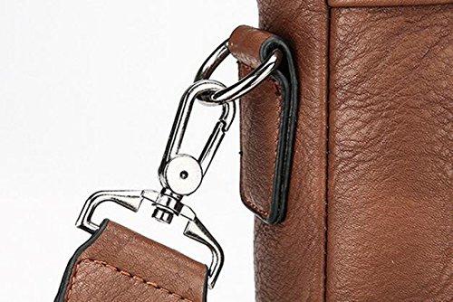 Männliche Beutel-Geschäftshandtasche Horizontale Schulterbeutel-Aktenkoffer-Schrägkreuz-Computer Kuriertasche Brown