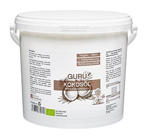 Guru Kokosöl nativ & naturrein, 1er Pack (1 x 5 l)