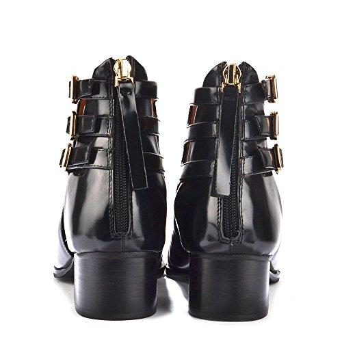 Jeffrey Campbell Leroy Boots a Talon, Femme Noir