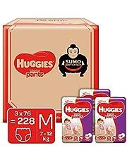 Huggies Wonder Pants Diapers Sumo Pack, Medium (228 Count)