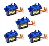 #6: REES52 5x Pieces SG90 Micro Servo Motor 9G RC Robot Helicopter Airplane Boat Controls
