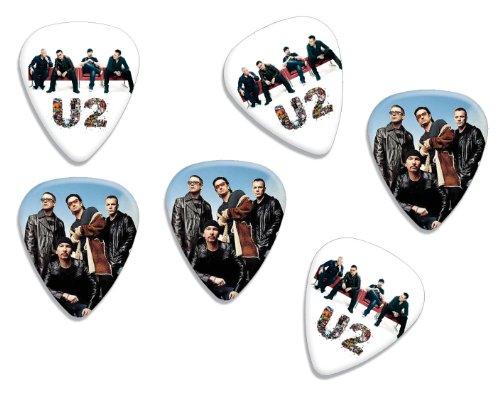 U2Bono Loose doble cara Guitarra Picks, Colección de 6