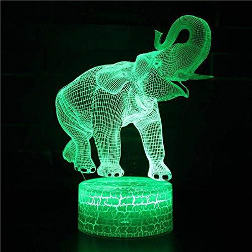 Decoraciones de elefantes lindos regalo para bebés habitación control remoto USB luz...