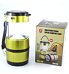 Torch LED Rechargeable Multi-functional Solar Camping Lamp LED Solar Emergency Light Lantern + USB Mobile Charging point, 3 Power Source Solar, Battery, Lithium Battery, Travel Camping Lantern (Color May Vary)