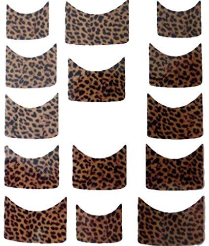 Nail art manucure stickers ongles scrapbooking: 14 décalcomanies motifs léopards marrons