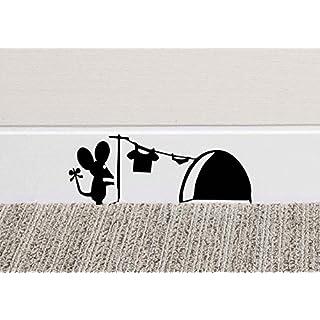 Maus-Loch Wand Kunst Aufkleber Waschen Vinyl Aufkleber Mäuse Home Sockelleiste Funny