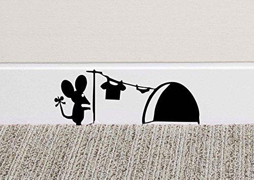 Tamaño: 18 x 7 cm (180 x 70 mm). Descripción del producto: Añade un poco de diversión y estilo a tu casa con este vinilo de pared.Nuestro vinilo de alta calidad se corta por ordenador, es resistente al agua, y está diseñado para durar años.Pega el vi...