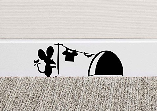 213B Mouse Hole Wall Art Sticker Washing Vinyl Decal