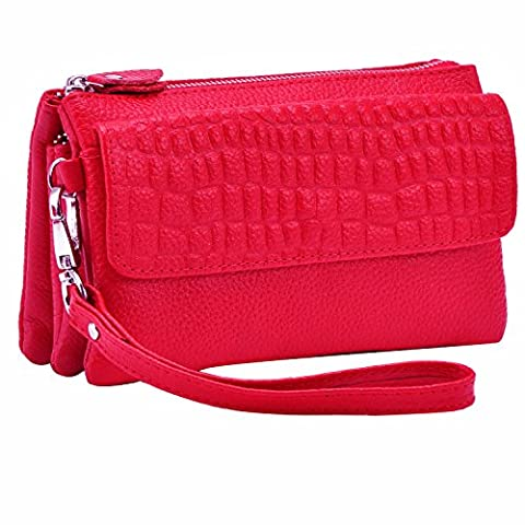 Shalwinn sac à main en mousseline de soie, sac à main pour téléphone cellulaire, manchette en cuir femme embrayage portefeuille avec sangle à épaule longue et
