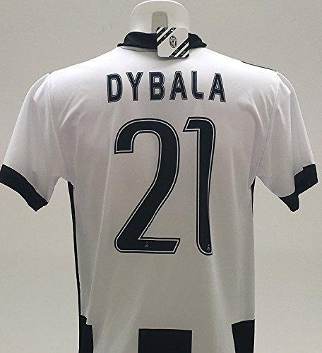Réplica oficial del 2016-2017 de camiseta de Paulo Dybala 21, de la Juventus, para niños de 12, 10, 8, 6, 4, 2 años