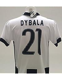 Camiseta Juventus Paulo Dybala (21), réplica oficial 2016–17, local, para niño, años 12 10 8 6 4 2, come da foto, 10 años
