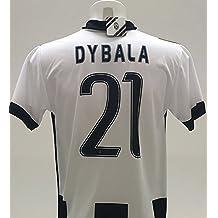 Camiseta Juventus Paulo Dybala (21), réplica oficial 2016–17, local, para niño, años 12 10 8 6 4 2, come da foto, 12 años