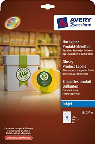 Glossy Product Labels, round, Ø 60 mm Ref J8105-10 [120
