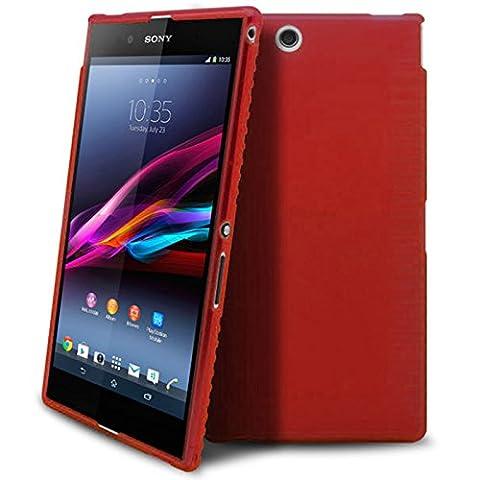 Caseink - Coque Housse Etui Pour Sony Xperia Z Ultra XL39H - Semi Rigide Gel [ Extra Fine Mat/Brillant ] TPU Glace - Translucide Rouge