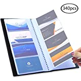 Visitenkartenmappe schwarz etui für visitenkarten Visitenkartenetui Kartenmappe für 340 Karten