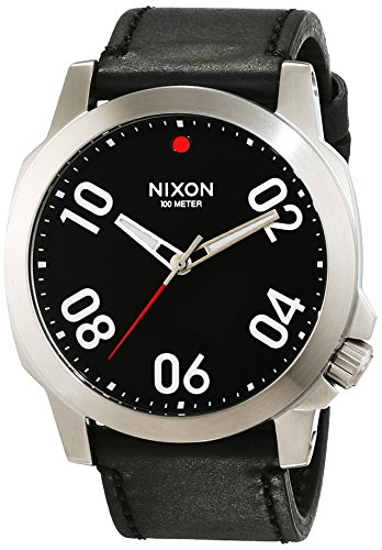 nixon-mens-quartz-watch-analogue-display-and-leather-strap-a466008-00