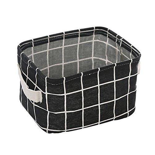 YJYDADA Faltbarer Aufbewahrungskorb für Spielzeugkiste, Aufbewahrungskorb, Stoffkorb, 20 x 15 x 12 cm Schwarz -