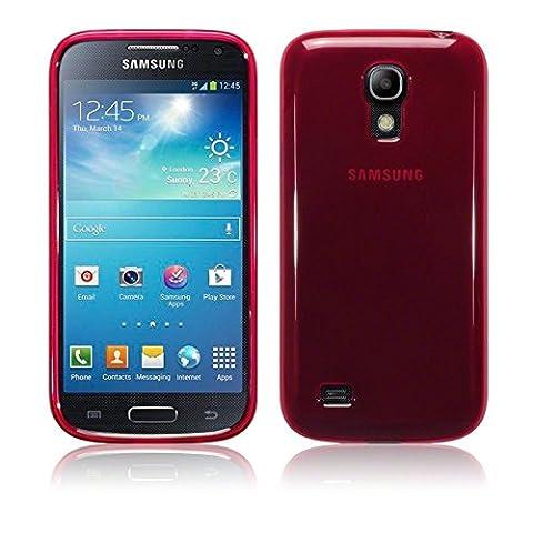 TBOC® Coque Gel TPU Rouge pour Samsung Galaxy S4 Mini i9190 en Silicone Souple Ultra Mince Etui Housse