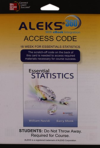 Price comparison product image Aleks 360 Access Card (18 Weeks) for Essential Statistics