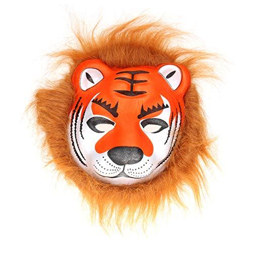 Amosfun Tiermaske Plüsch Tiger Maske Halloween Masken Halloween Kostüme (Tiger)