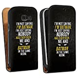 Samsung Galaxy Alpha Protection Premium Housse Case Cover Proverbes Batman Statement