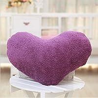 HuaYang 1/5 Colors Soft Sweet Love Heart Shape Fluffy Throw Pillows Cushions(Purple)