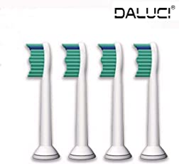 DALUCI 4pcs/lot Replacement HX6013 Toothbrush Heads for Philips Sonicare ProResults