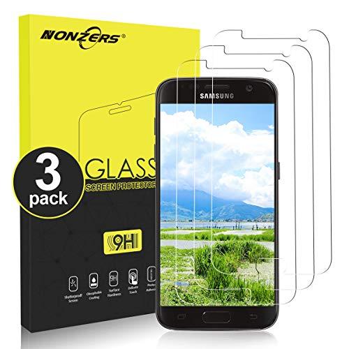 NONZERS Film de Protection d'Écran pour Samsung Galaxy S7 [3 Pièces], [9H Dureté] Ultra Mince sans Bulle, S7 Verre trempé Film Protecteur Transparent