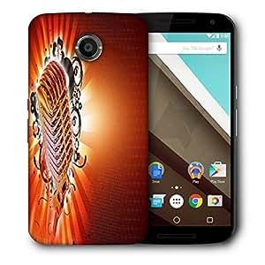 Snoogg Karaoke Background Designer Protective Back Case Cover For Motorola Nexus 6