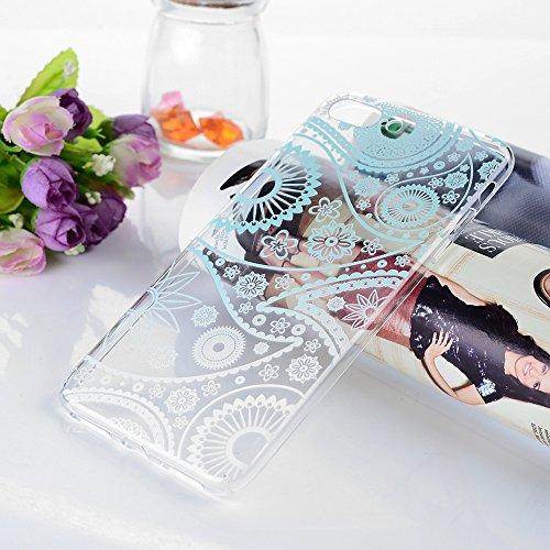 iphone 7 Plus Case,Badalink iphone 7 Plus Hülle Schutzhülle Bunt PC Cover Handyhülle Hardcase Schale Katzen küssen Fisch Muster Volle Kante Transparente Hülle Grün Gradienten Blumen Totem