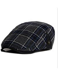 04fa062947a5 Nanxson(TM Béret Chapeau Plat en Laine Aux Carreaux À La Mode pour Hommes