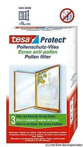 tesa 55037-00000-00 Protect Set of 3 Filters pollen, 1.3 x 1.5 m White