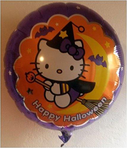 Folienballon Hello Kitty Happy Halloween ca. 43cm Durchmesser