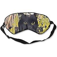 Comfortable Sleep Eyes Masks Black Cat Printed Sleeping Mask For Travelling, Night Noon Nap, Mediation Or Yoga preisvergleich bei billige-tabletten.eu